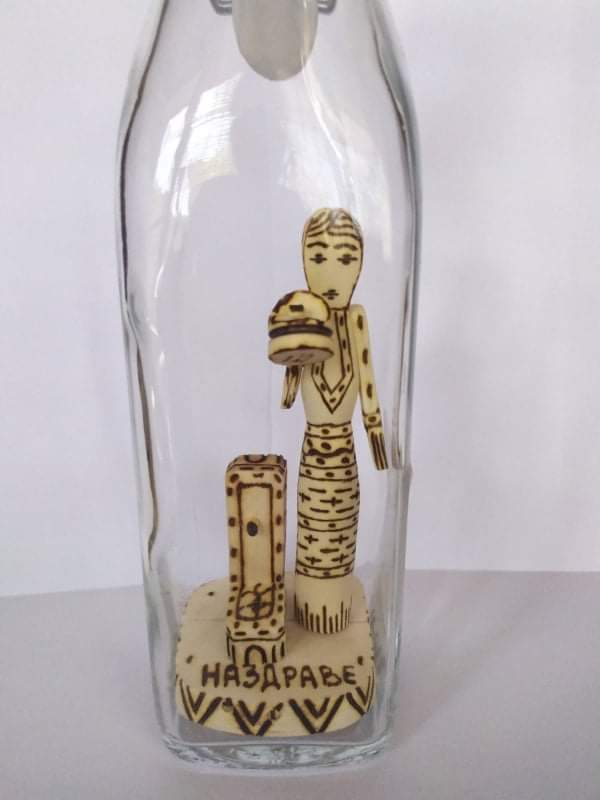 """Декоративна бутилка """"Гергана"""" - 500 мл."""